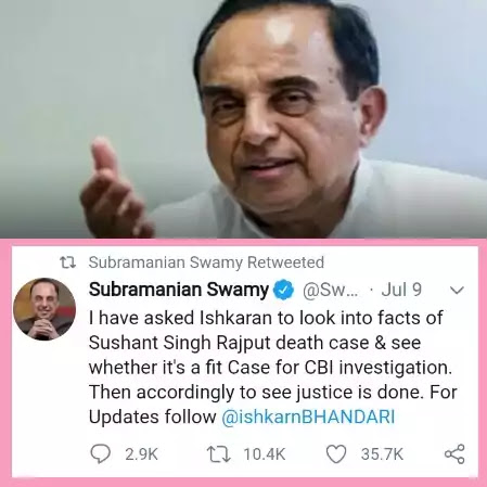 Subramanian-swamy-CBI-Investigation-For-Sushant-Singh-Rajput