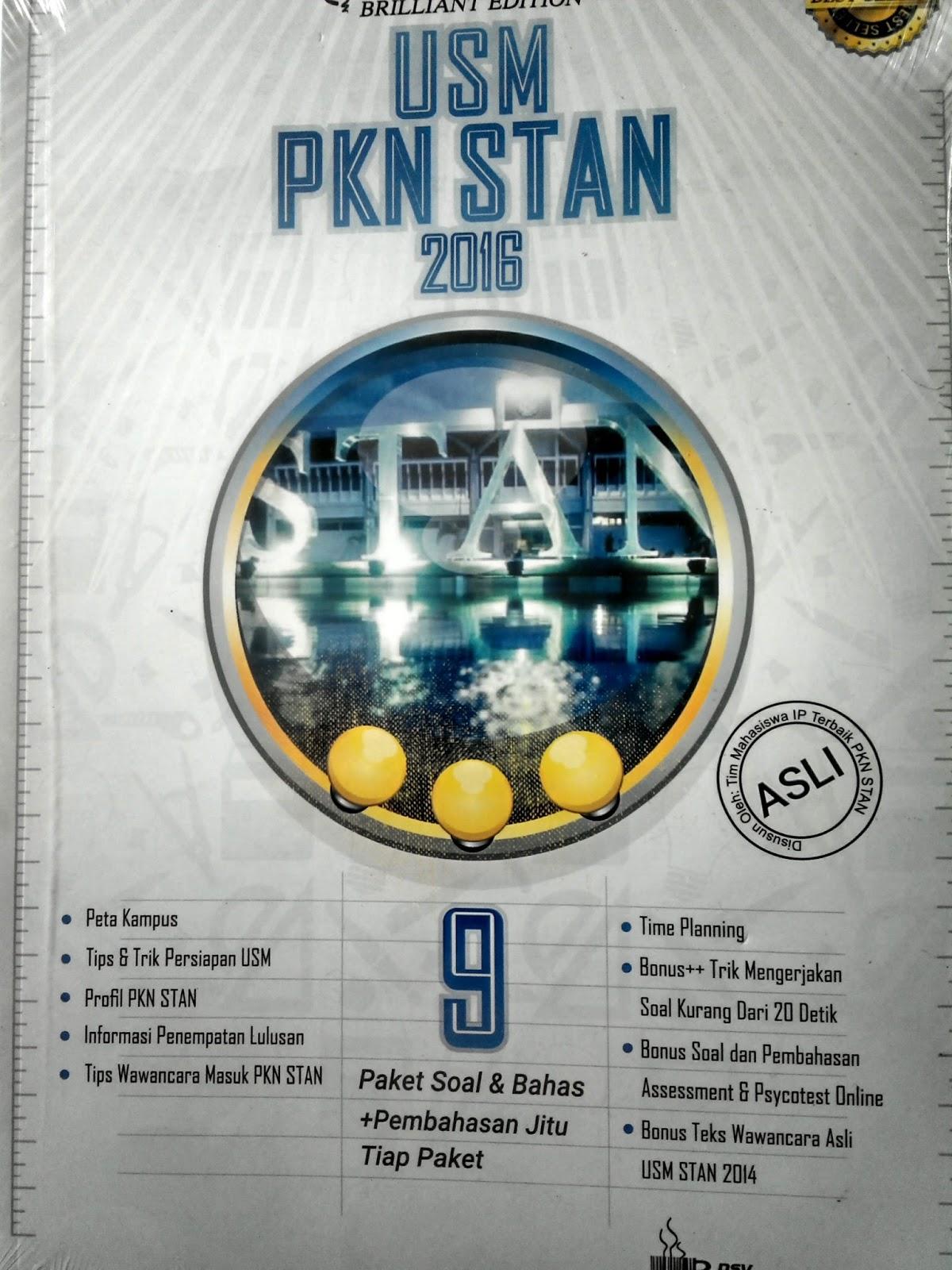 Buku Soal Usm Pkn Stan 2016 Terbaru Dan Terlengkap
