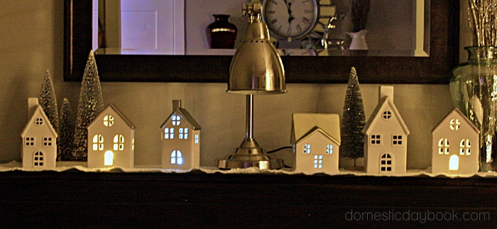 Simple Christmas Village at night