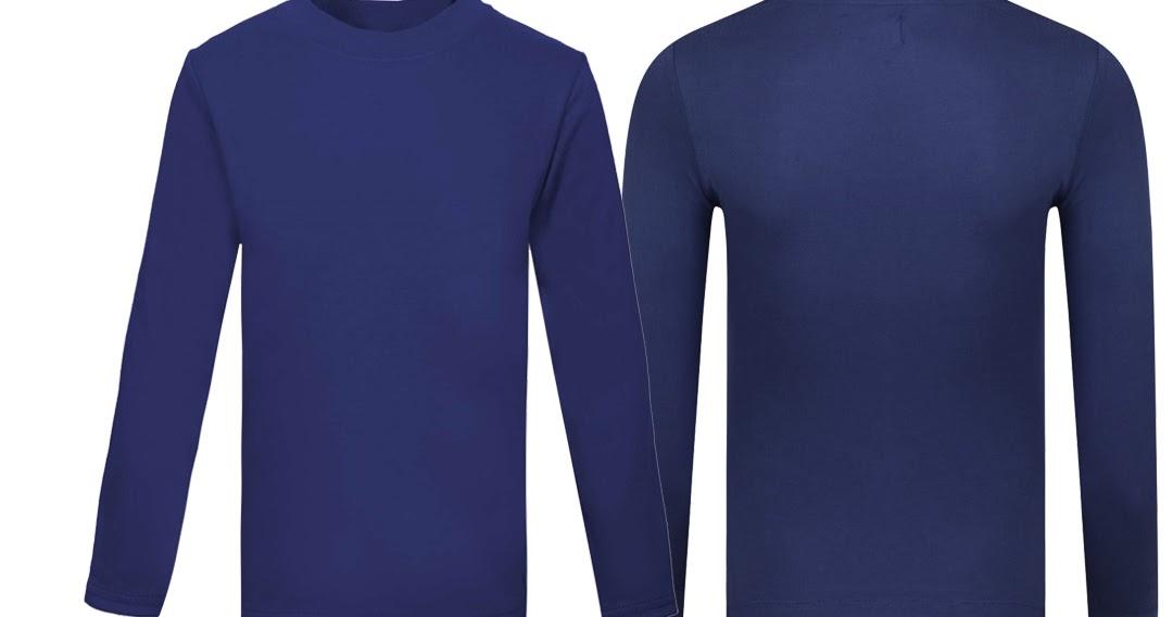 52 Kaos Polos Biru Lengan Panjang Depan Belakang Yang Terbaru