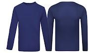 44+ Kaos Polos Biru Lengan Panjang Depan Belakang, Gaya Terkini!