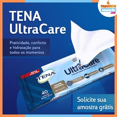Amostra Grátis TENA Ultra Care Toalhas Umedecidas