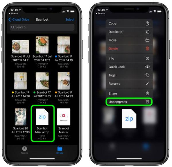 Cara Membuat File Zip di iPhone