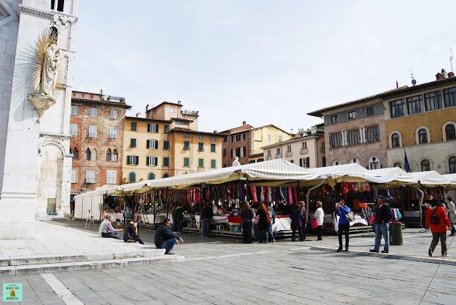 Plaza San Michele en Lucca, Toscana