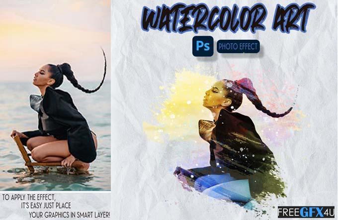 Watercolor ART – Photoshop Effect