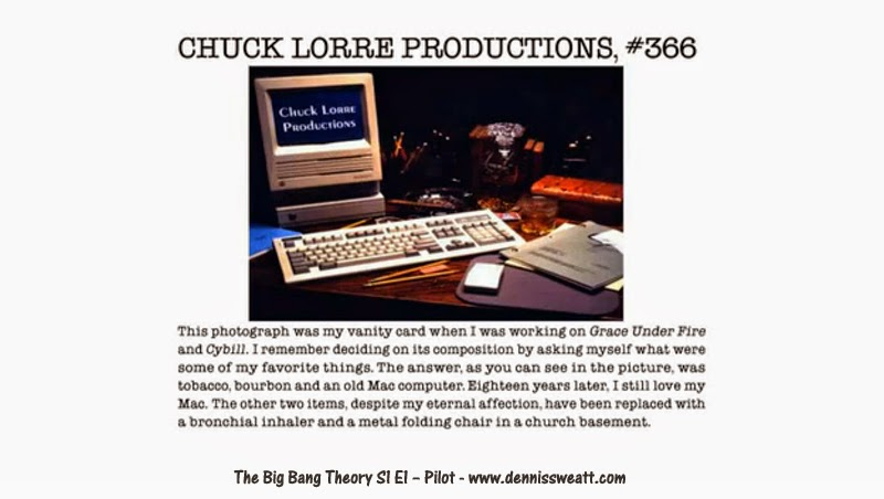 Dennis M Sweatt Comic Book Creations And Design 10 Chuck Lorre Vanity Cards From The Big Bang