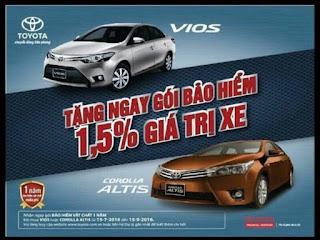 Khuyến mại từ 15 - 30 triệu khi mua xe Toyota Corolla Altis và Toyota Vios