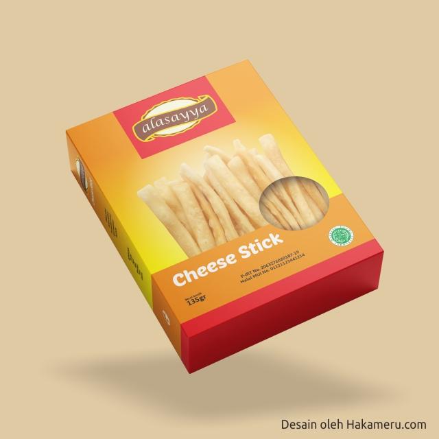 Desain Kemasan Cheese Stick Packaging Box Stik Keju