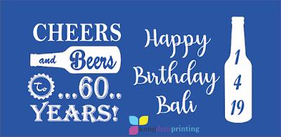 Cheers Beers 60 years Bali