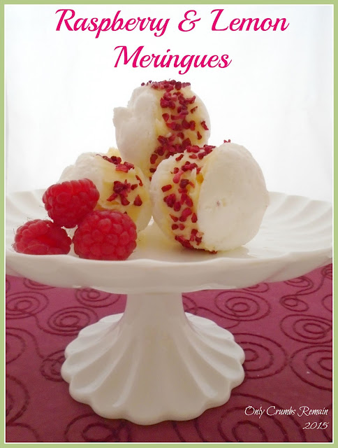 Raspberry & Lemon Meringues, with Aquafaba