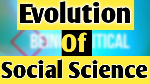 Evolution ofSocial Science