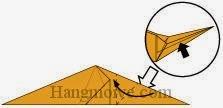 Bước 9: Mở lớp giấy ra, kéo và gấp lớp giấy sang trái.