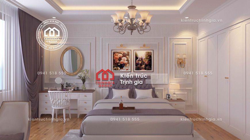 Thiết kế nội thất biệt thự tân cổ điển kiểu Pháp sang trọng