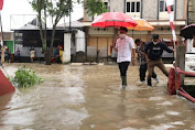 Walikota AA Pantau Banjir di Sejumlah Lokasi