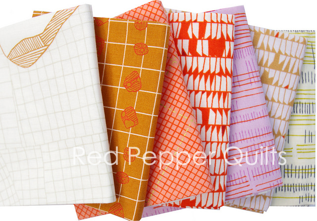 Carkai by Carolyn Friedlander for Robert Kaufman Fabrics | Red Pepper Quilts 2015