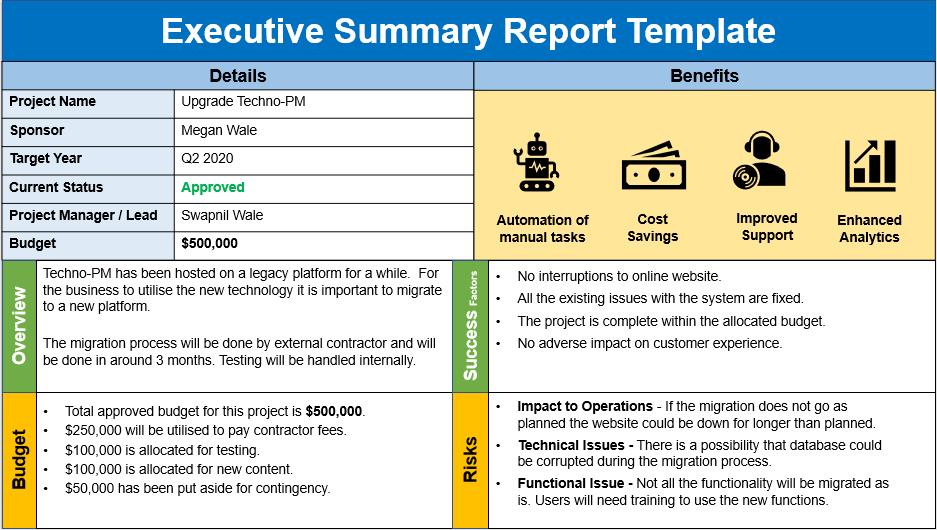 how to write an executive summary, executive summary