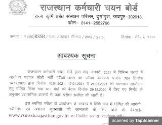 Rajasthan patwari exam today news paper