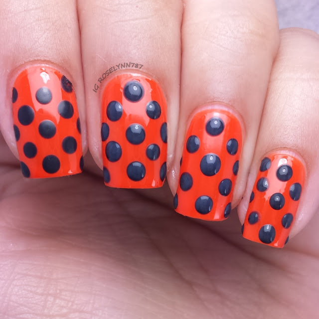 Challenge Your Nail Art October - Orange & Black