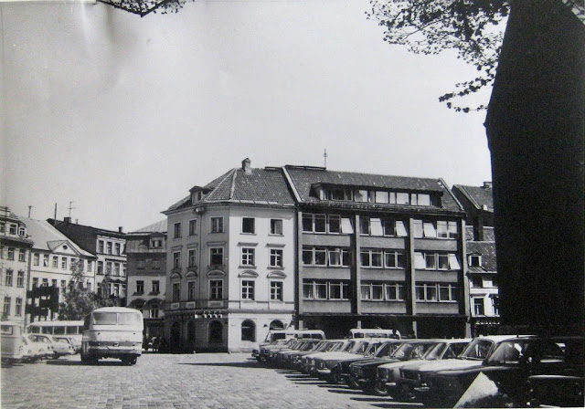 1970-е годы. Рига. Площадь 17 июня. Здание Союза рыболовецких колхозов по адресу Яуниела, 13 (1967 год, архитектор Д. Данненберг)