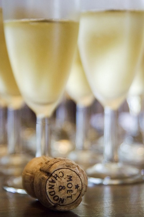 Champanhe para brindar com estrelas