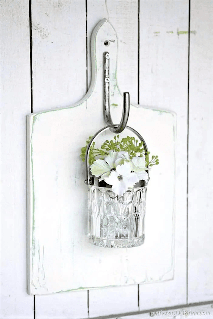 Hanging glass wall vase