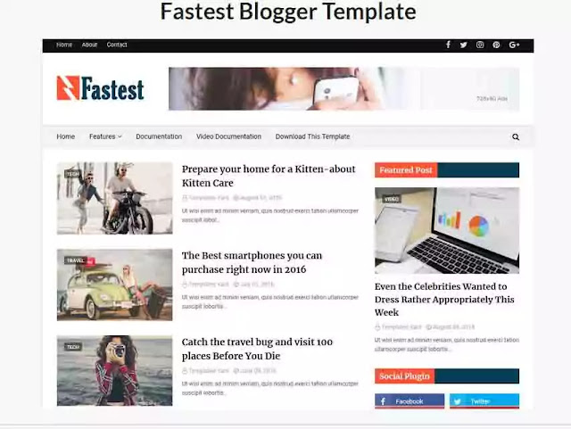 Fast-Loading-Responsive-Blogger-Template
