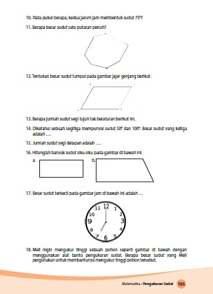 Kunci Jawaban Buku Senang Belajar Matematika Kelas 4 Kurikulum