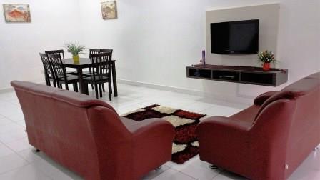 Ruang Tamu Homestay di Johor Bahru