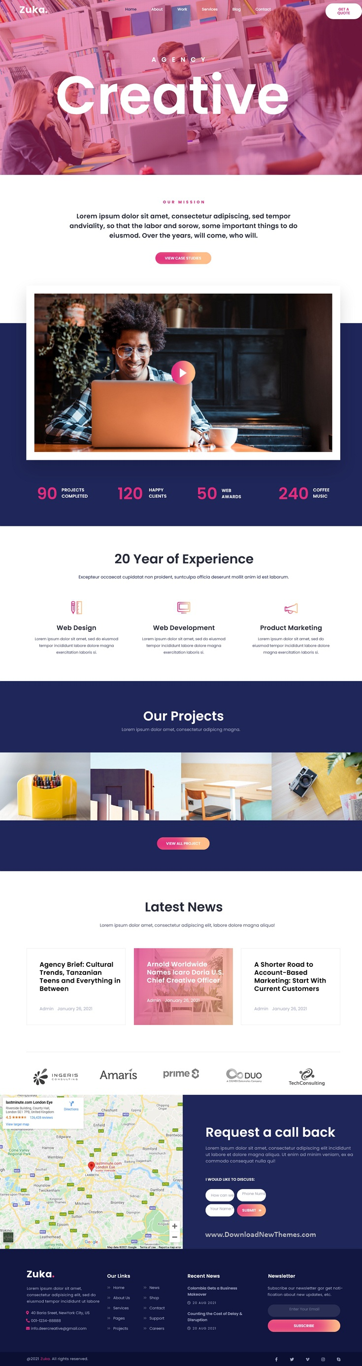 Creative Portfolio and Agency Template Kit