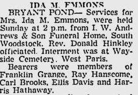 Obituary of Ida May Morgan Emmons