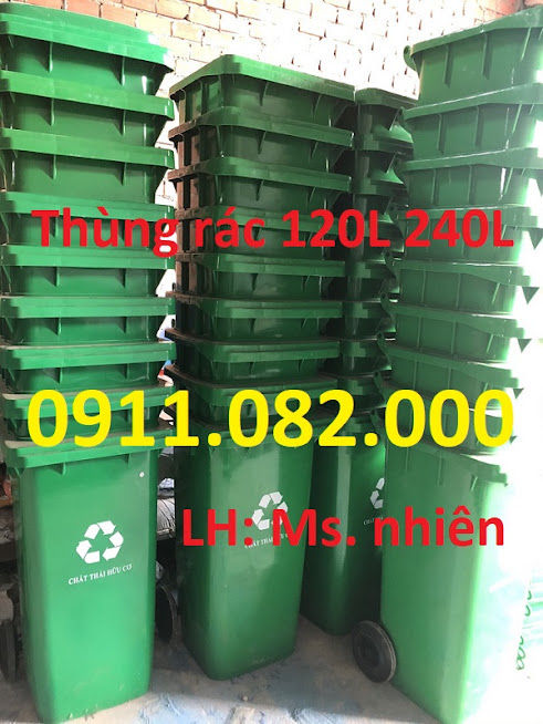 Giá rẻ thùng rác 120L 240L tại trà vinh- Giảm giá thùng rác nhựa các loại- lh 0911082000