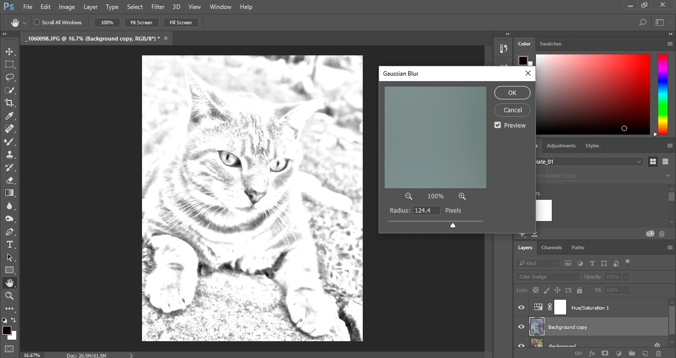 how to turn a photo into a drawing photoshop