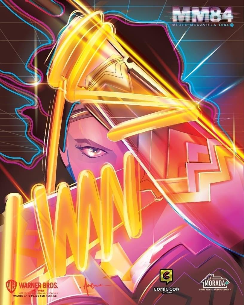 Wonder Woman 1984 Comic-Con Colombia Poster : ガル・ガドット主演の戦うヒロイン映画「ワンダーウーマン 1984」の南米のオタクの祭典 コミコン・コロンビアの特製ポスター ! !