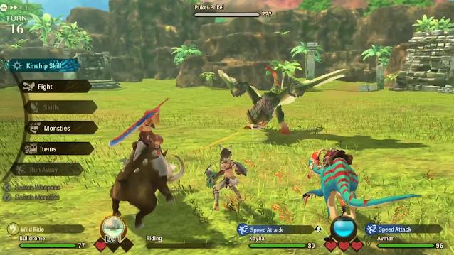 Pukei-Pukei boss fight tired Monster Hunter Stories 2 Nintendo Treehouse Live E3 2021