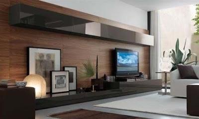 TV tidak lepas dari kebutuhan tersier semua orang 95 Ide Desain Rak TV Stylish Nan Elegan