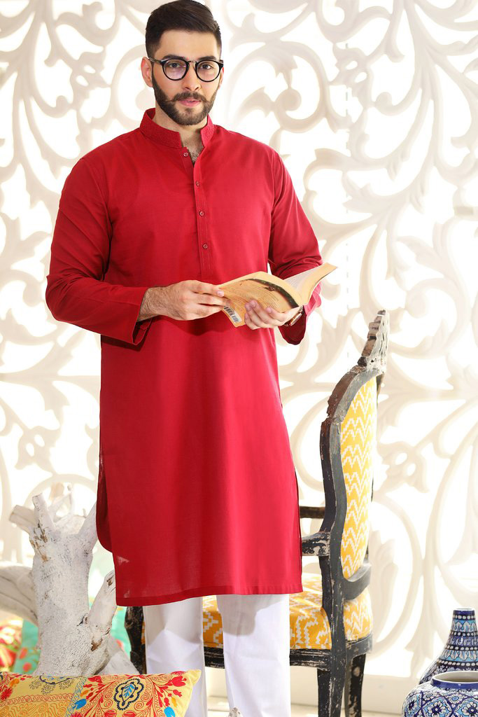 light red kurta