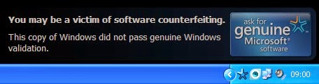 "Cara Menghapus "" YOU MAY BE A VICTIM OF SOFTWARE COUNTERFEITING "" WINDOWS XP SP3"