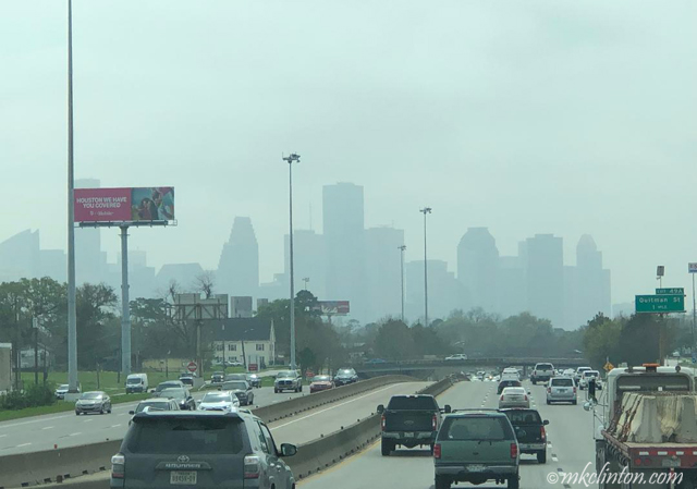 A foggy view of downtow Houston
