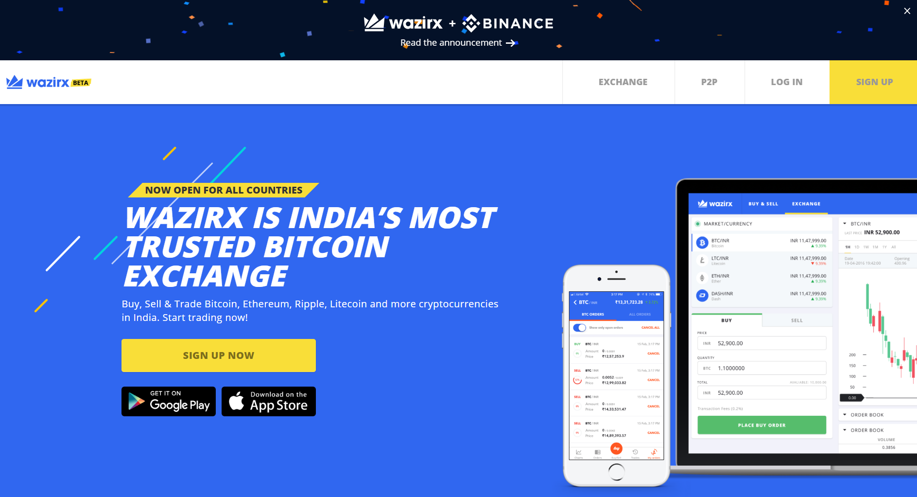 WazirX: India's Most Trusted Cryptocurrency Exchange