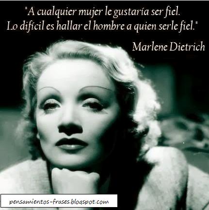 frases de Marlene Dietrich