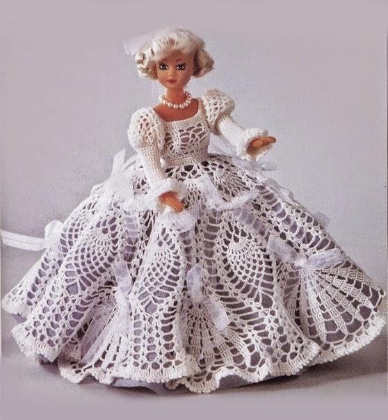 Dos vestidos crochet para la muñeca Barbie