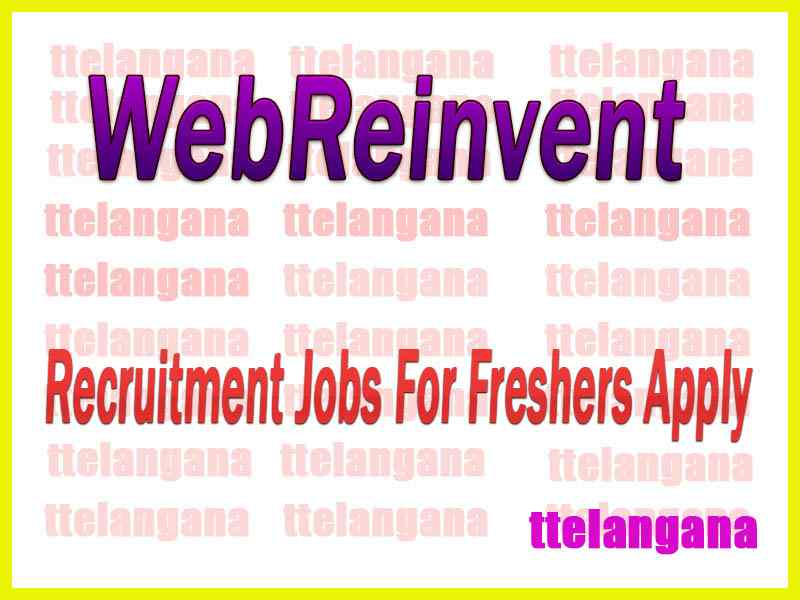 WebReinvent Recruitment Jobs For Freshers Apply