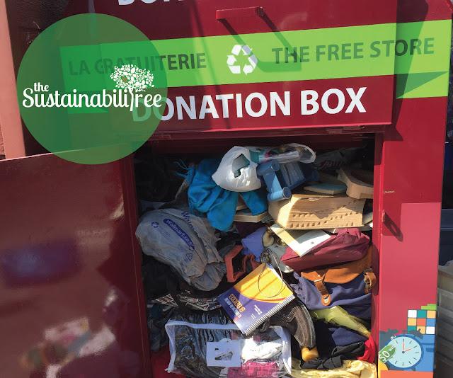Donation bin uOttawa Free store