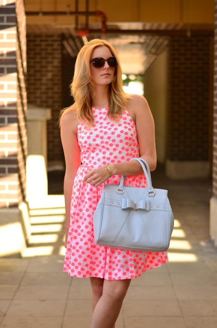 J Crew Pink Floral Racerback Dress