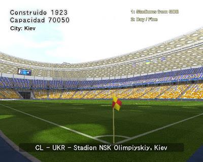 PES 6 Stadiums NSK Olimpiyskiy ( UEFA Champions League 2018 FINAL )
