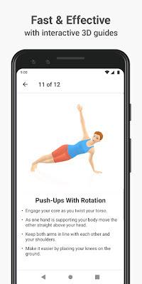 تحميل تطبيق اللياقة البدنية الرائع Seven - 7 Minute Workout