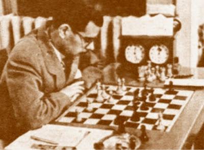 El ajedrecista Antonio Medina en 1950