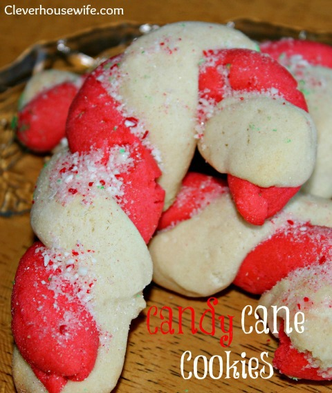 Candy Cane Cookies from Clever Housewife