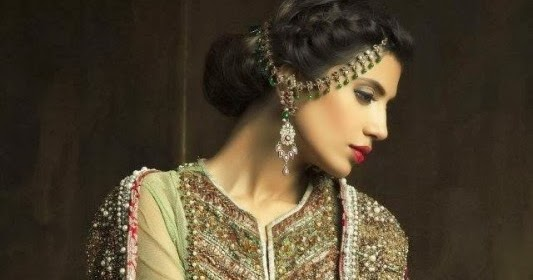 Pakistani Bridal Hairstyles 2014 2015 For Walima Party And: Latest Fashion Trends: Pakistani Bridal Couture Wedding