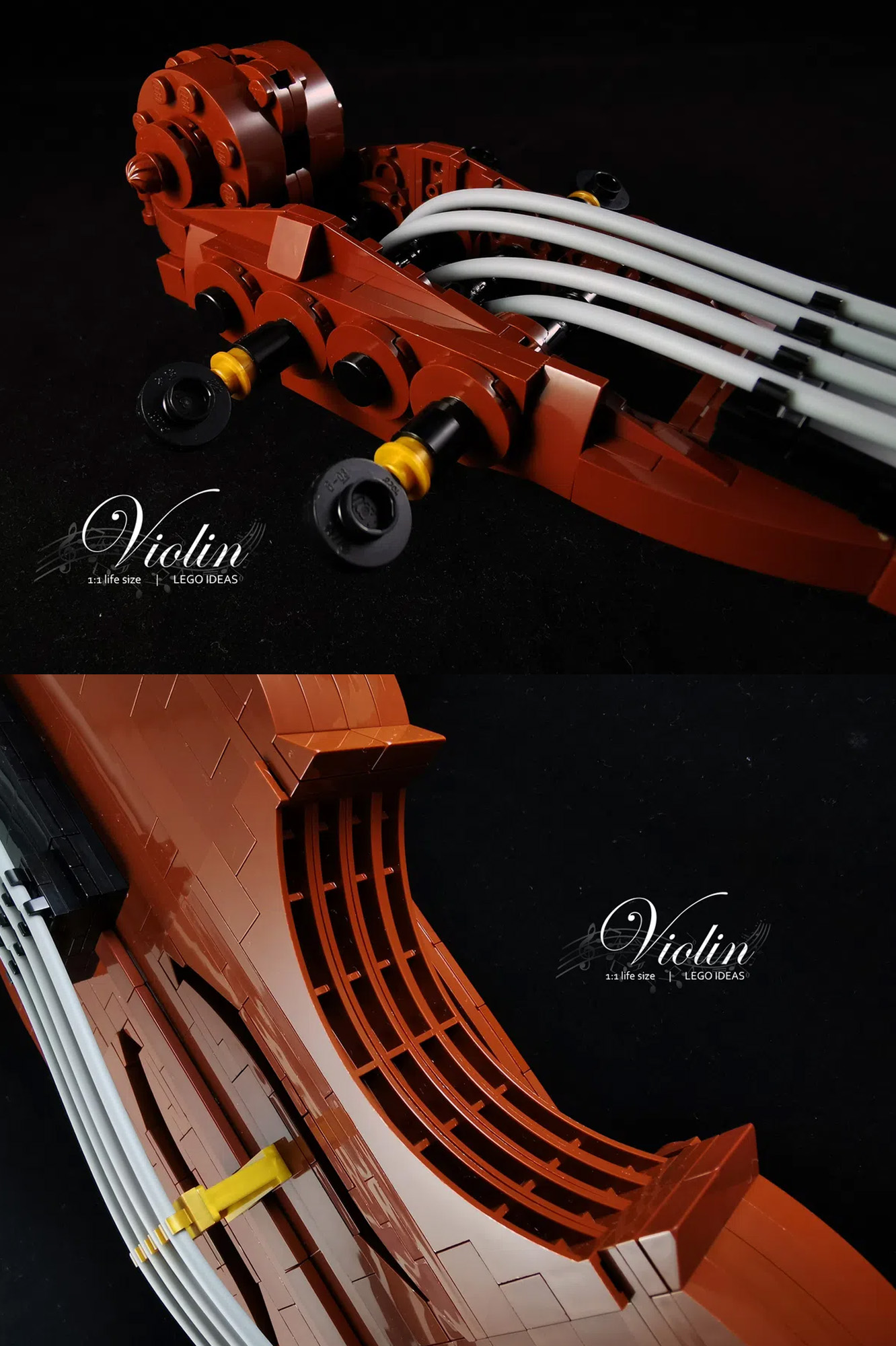 レゴアイデアで『ヴァイオリン』が製品化レビュー進出!2021年第1回1万サポート獲得デザイン紹介